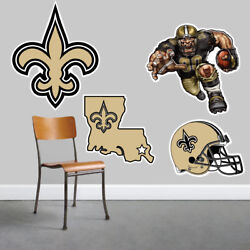 New Orleans Saints Wall Art 4 Piece Set Large Size------New in Box------