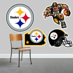 Pittsburgh Steelers Wall Art 4 Piece Set Large Size------New in Box------
