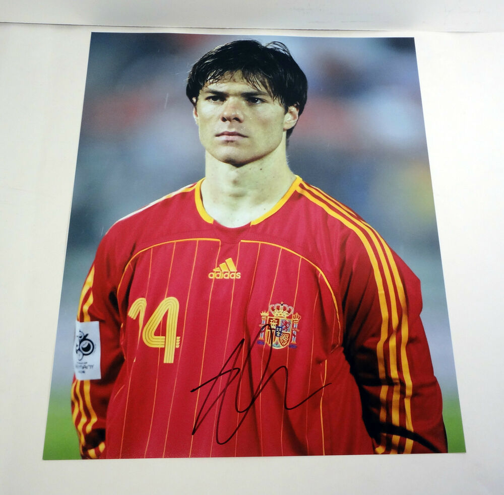 db436d057 Details about XABI ALONSO REAL MADRID SPAIN WORLD CUP 2014 SIGNED AUTOGRAPH  11X14 PHOTO COA