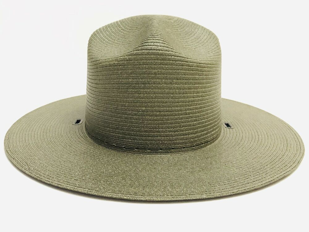 88a6f2d3 Stratton Oval National Park Service Straw Hat S44 Green 6 & 5/8