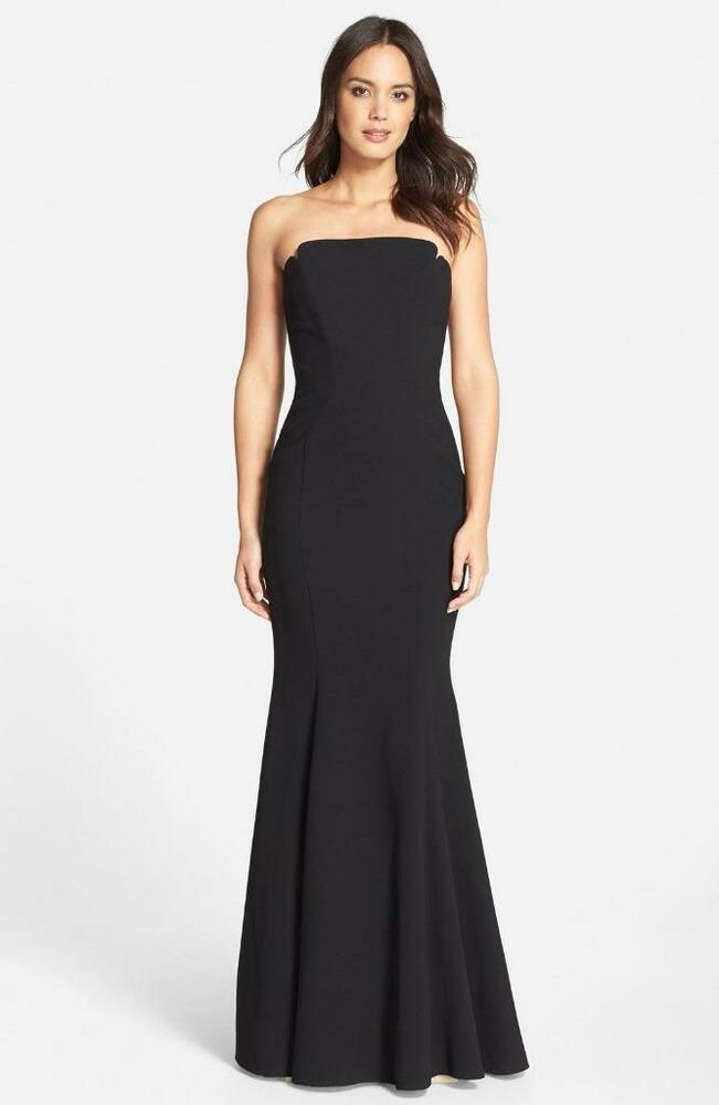 3aacb472b97 Details about JillJill Stuart Notched Strapless Gown- Size 8 (F 38)