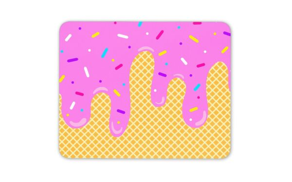 Ice Cream Funfetti Sweet Treats Mouse Mat Pad - Delicious Computer Gift #16914