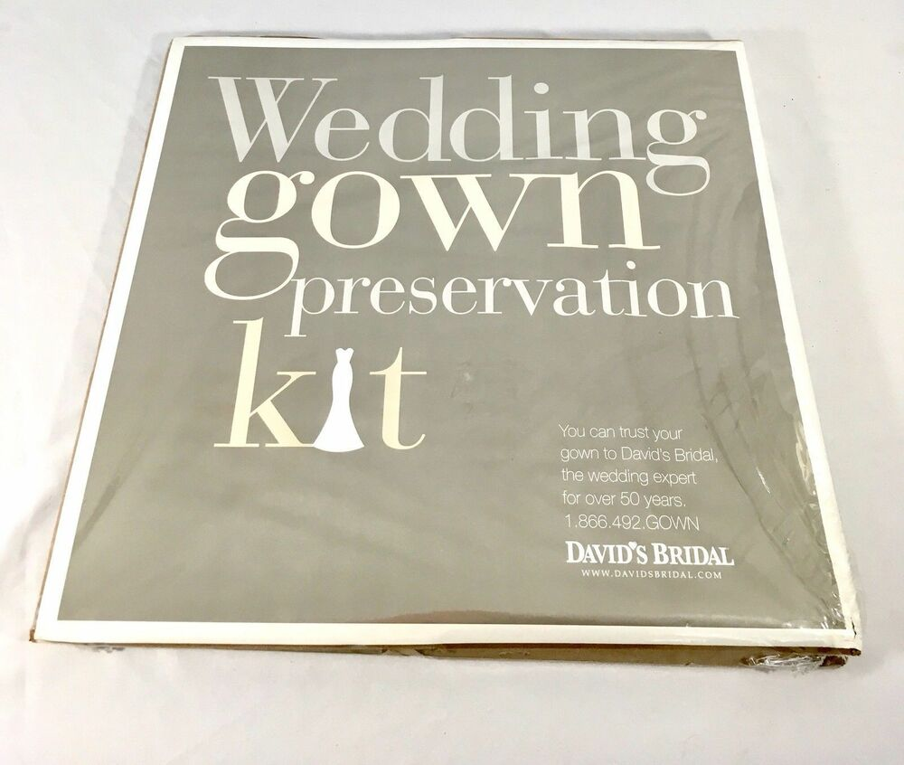 Wedding Gown Preservation Kit: Wedding Gown Preservation Kit New In Box Davids Bridal