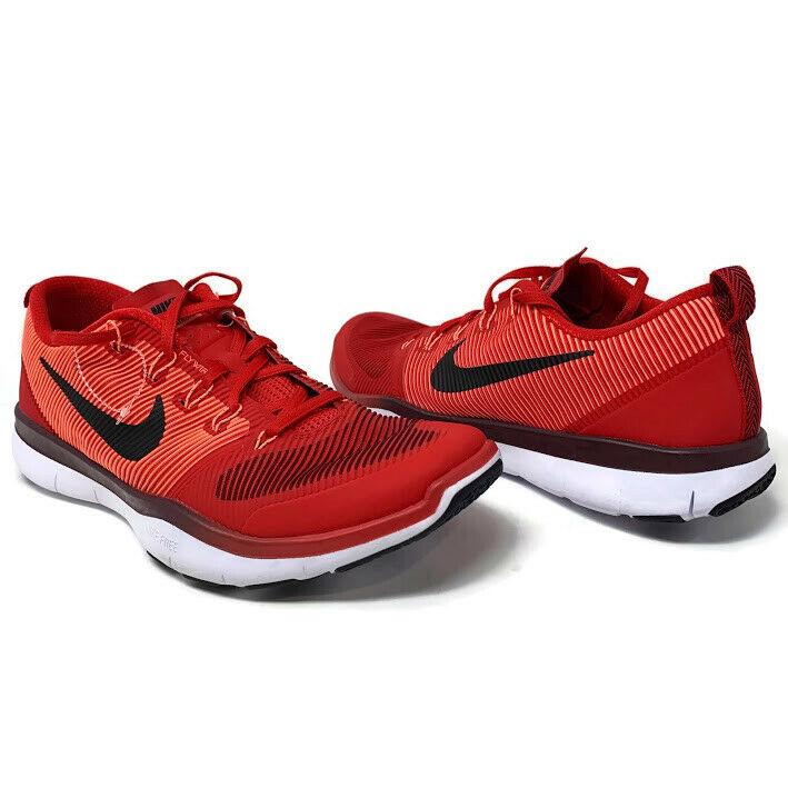 b608432a5701 Details about Nike Free Train Versatility Size 15 Red Black Men s Training  Shoes 833258-606