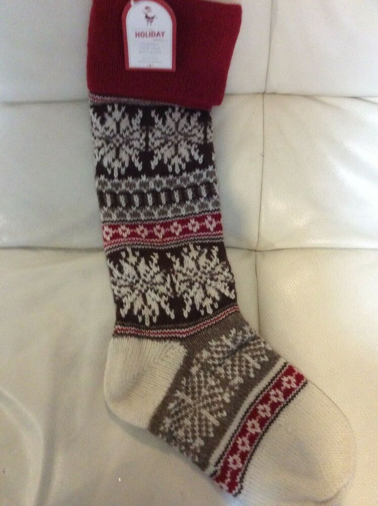Pottery Barn Kids Classic Fair Isle Snowflake Stocking No