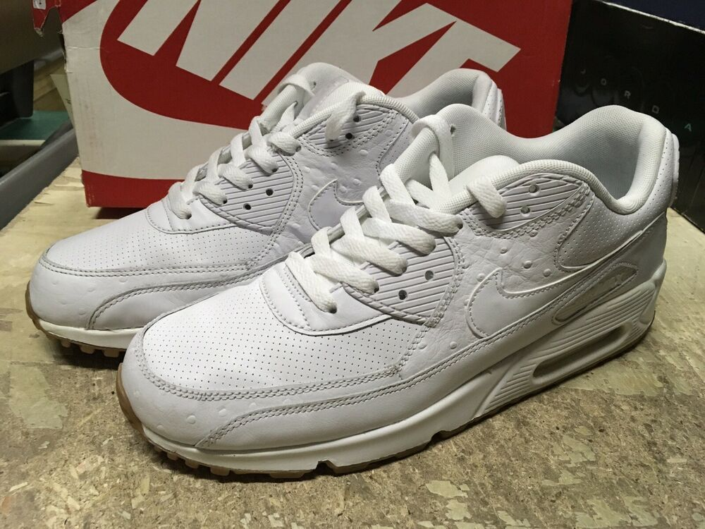 innovative design 5f6c4 989ea Details about USED MENS NIKE AIR MAX 90 LEATHER PA RUNNING SHOES 705012 111  SZ 10.5 FREE SHIP