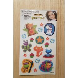 19 body stickers Autocollants Pour Le Corps Stick A Toos Decals Bear Frog Fish