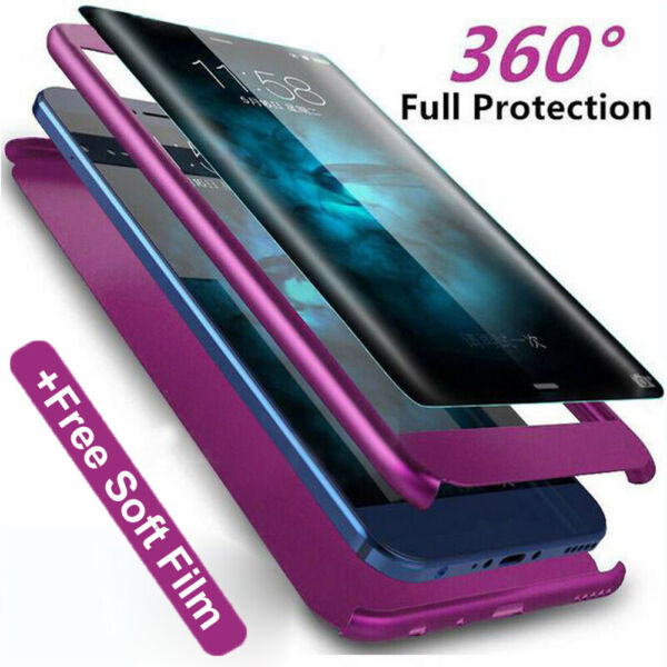 360 Full Protective Armor Case for Huawei P30 Pro/Lite Y6 Y7 Pro 2019 Cover+Film