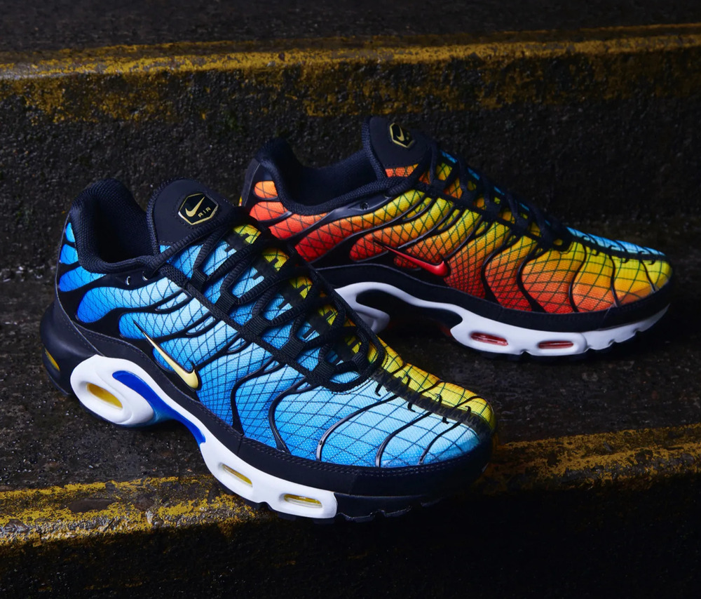 new arrival 209f1 d08d3 Details about Nike Air Max Plus OG Tn GREEDY Blue Shark x Sunset Tiger UK  7-11 EUR 41-46
