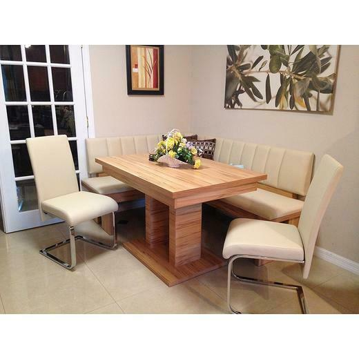 4 Pc Leather Breakfast Nook,dining Set , LayAway W 4