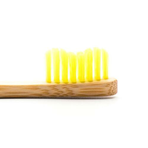 Humble Brush Bamboo Kids Toothbrush with Nylon Ultra Soft Bristles - Yellow
