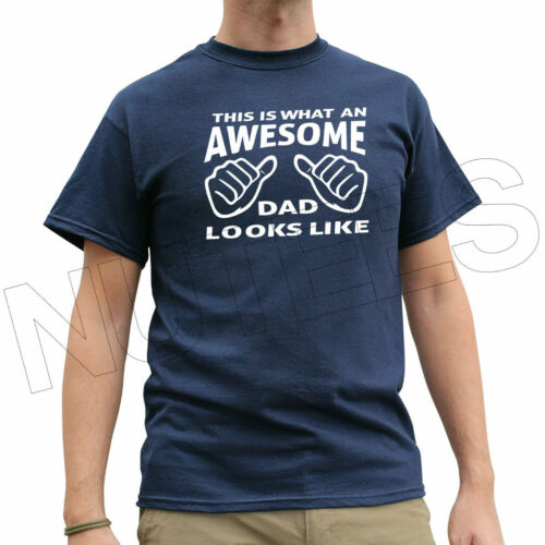 This Is What An Awesome Dad Looks Like Cool Funny Men's T-Shirts Vests S-XXL