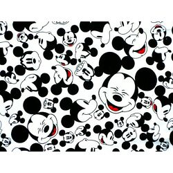 Kyпить FAT QUARTER  DISNEY FABRIC MICKEY MOUSE FACES QUILTING 100% COTTON MATERIAL  FQ на еВаy.соm
