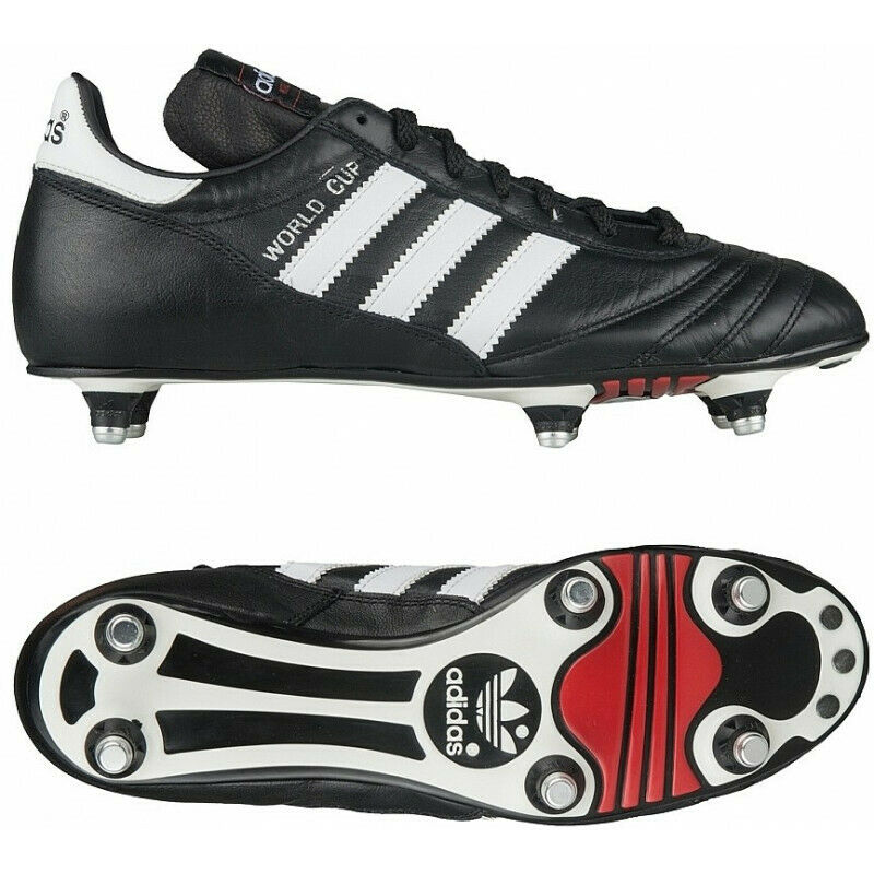 best service 321cf f279d Details about MENS ADIDAS WORLD CUP COPA MUNDIAL SOCCER FOOTBALL CLEATS  BLACK WHITE SHOES