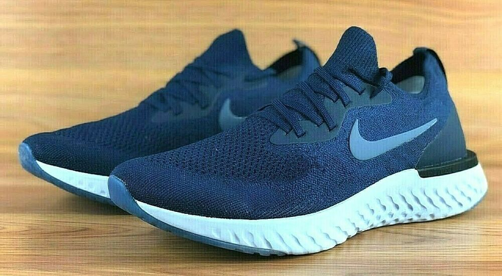 908f88f0b9676 Details about NIKE EPIC REACT FLYKNIT RUNNING SHOES AQ0067-402 COLLEGE NAVY  BLUE   WHITE  150