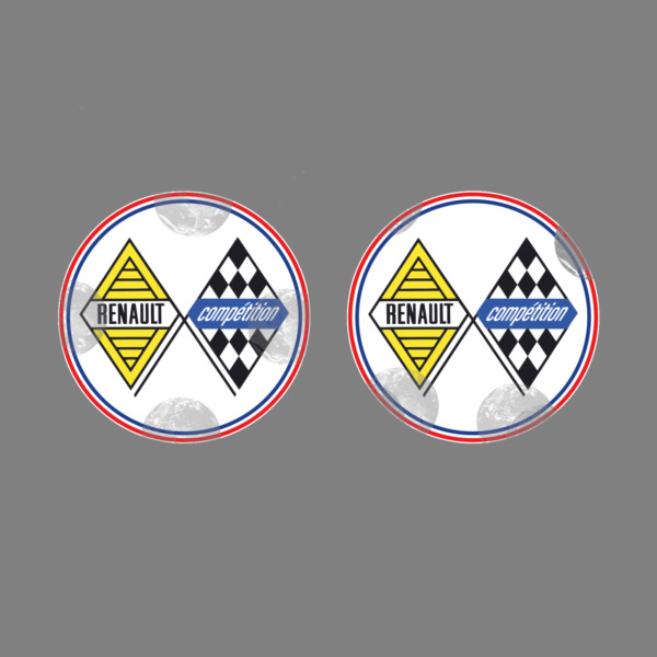 RENAULT COMPETITION  X2 DECAL STICKER AUFKLEBER AUTOCOLLANT STICKERS