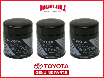 GENUINE TOYOTA LEXUS OIL FILTER SET OF (3) OEM FAST SHIPPING 90915-YZZD1