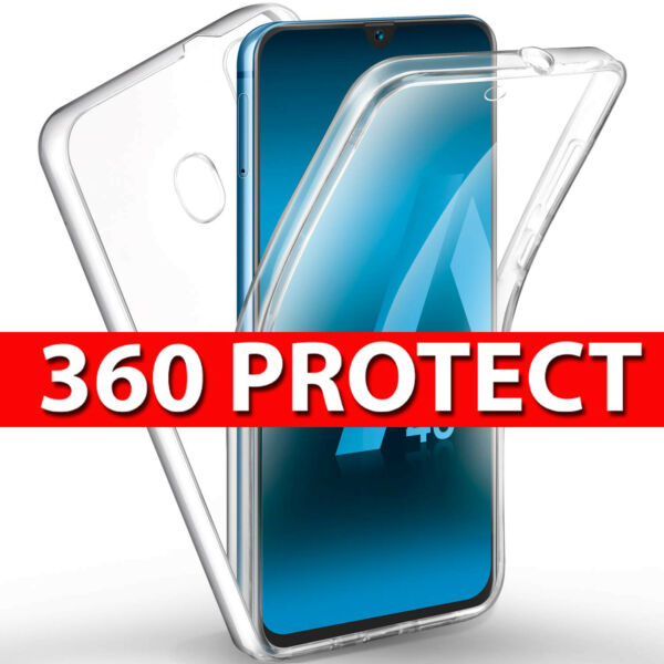 Case for Samsung Galaxy A50 A40 360 Shockproof Protective Silicone TPU Gel Cover