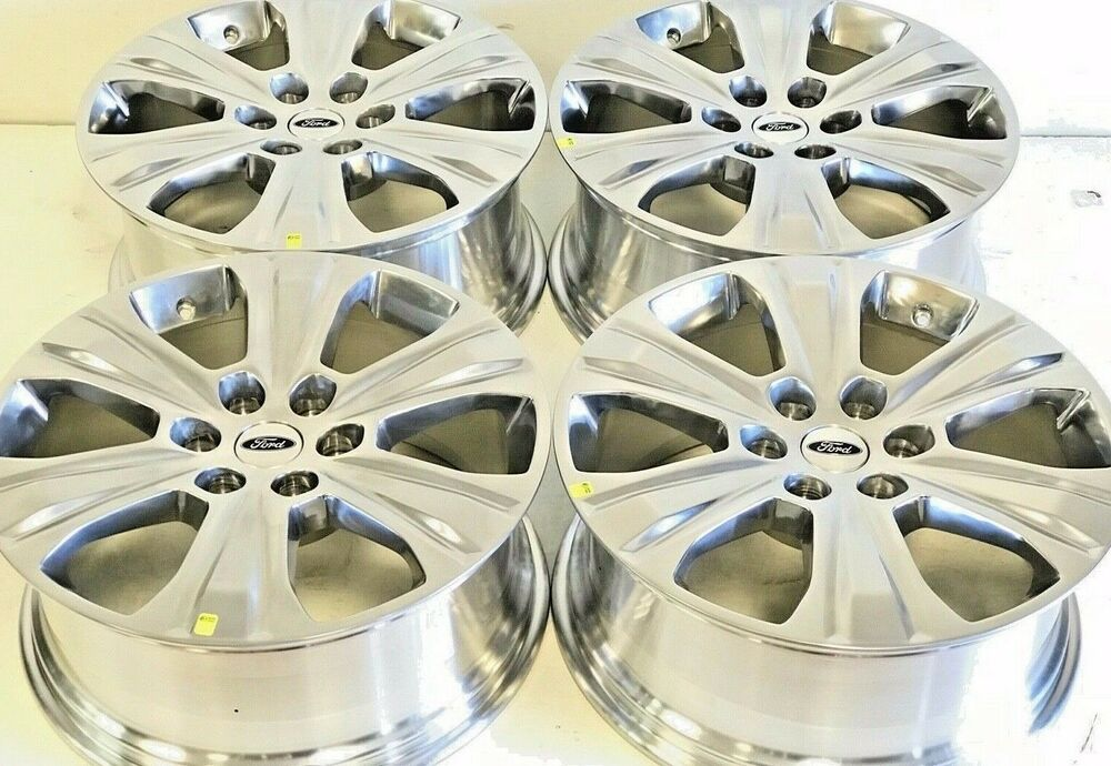 20 Quot Inch Ford F150 Expedition Set Of 4 04 2019 Polished Factory Oem Wheels Rims Ebay
