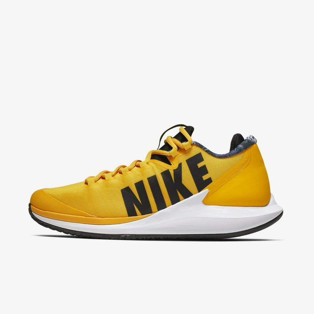 371ae9ae30 Details about New Nike Court Air Zoom Zero Tennis Shoes - University Gold/ Black(AA8018-700)