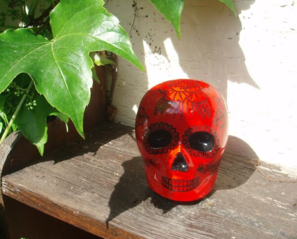 HANDMADE  SKULL ORNAMENT  calavera mexican day of the dead