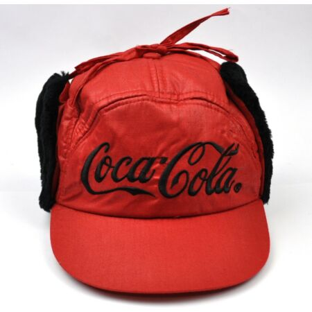 img-Coca-Cola Coke Trapper Hat Warm Cap Peaked Cap Earmuffs Cap Red