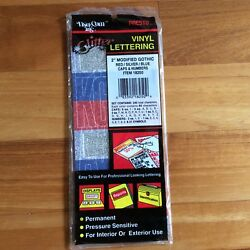 PRESTO Vintage 2  Glitter Red, Silver, Blue Mod Gothic 240 Vinyl Letters Numbers