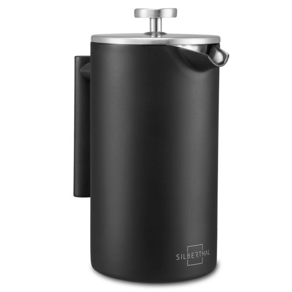Pressfilterkanne French Press SILBERTHAL 1 l Kaffeebereiter Edelstahl Cafetirere