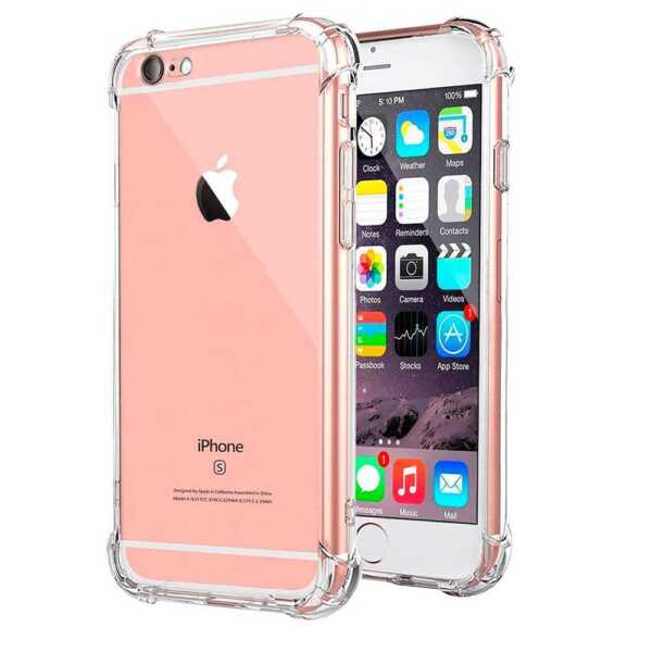 Clear TPU Gel Silicone ShockProof Antishock Case Cover Protector for iPhone 6 6S