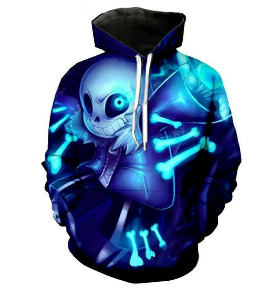 Anime Game Undertale Sans Pullover 3D Hoodie Sweatshirt Halloween Cosplay Coat