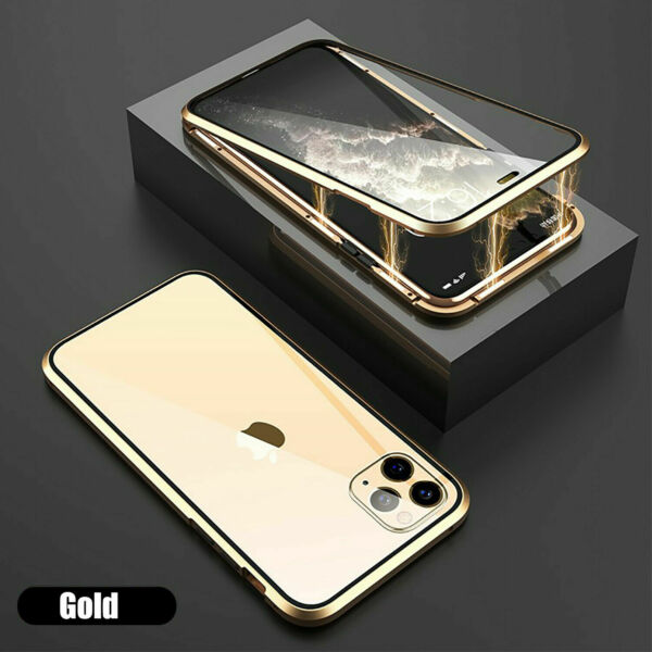 Royaume-UniFor Iphone 11 PRO XS SE MAX XR Magnetic  Double Side Glass Case Cover