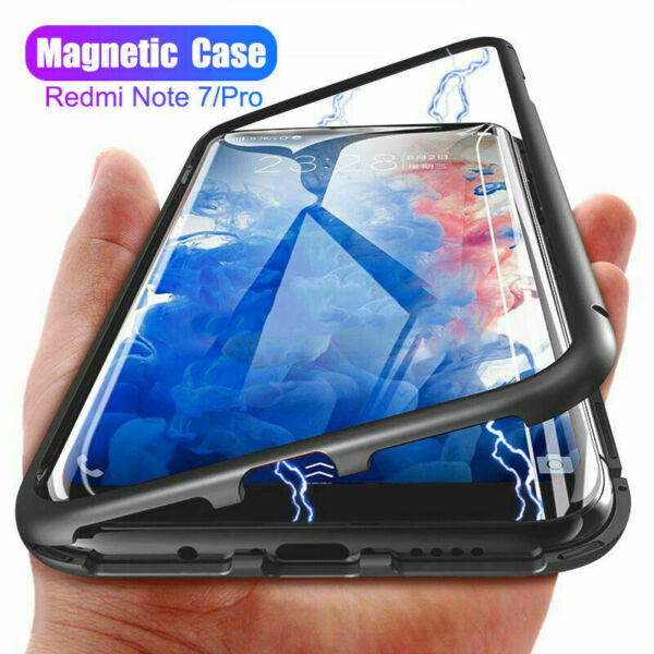 For Xiaomi Redmi Note 7 8 Pro Mi 9T 60° Magnetic Adsorption Metal Tempered Glass