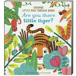 Usborne Little Peek-Through Books Are You There Little Tiger? FREE ship $35
