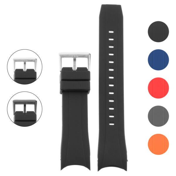 Strapsco Rubber Watch Band for Citizen Eco-Drive Promaster Aqualand Chronograph