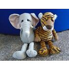Russ Berrie Standard Elephant & Tiger Soft Cuddly Toys 35cm