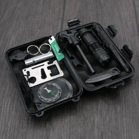 img-UK 10 x Professional Survival Kit Outdoor Field Camp Travel Hike Emergency Tools