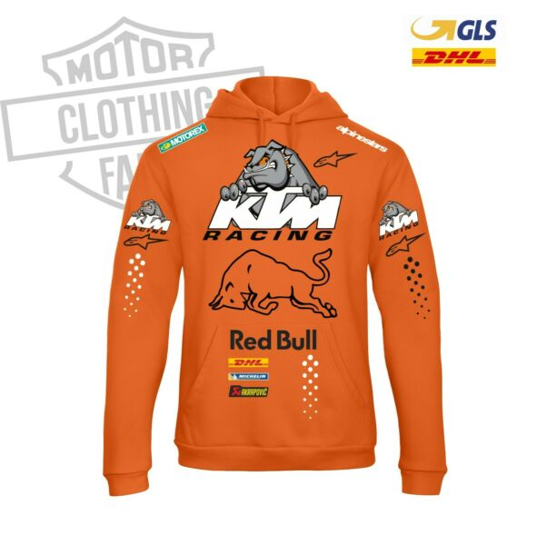 FELPA ENDURO KTM  RACING RED BULLDOG cappuccio MOTO replica FAN sponsor