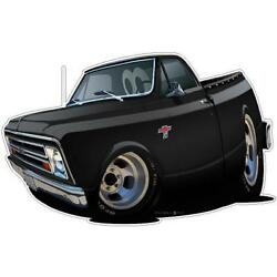 1967-8 Chevy C-10 Cartoon Truck 4x4 Wall Decal Room Decor Garage Graphics Poster
