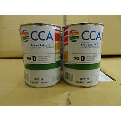 Case of 6 CCA Novocolor II Universal Colorant 8821N 103 PHTHALO GREEN Quart