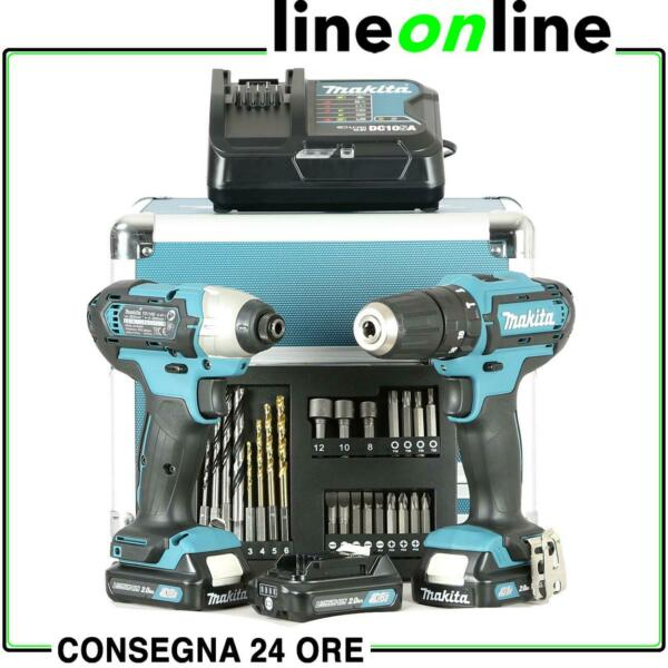 Makita CLX228SAX2 Set Trapano avvitatore e impulsi 3 Batterie da 10,8V NEW 2020