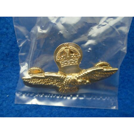 img-WWII ROYAL AIR FORCE SIDE CAP BADGE + PLATE & SCREWS, HIGH QUALITY REPRODUCTION
