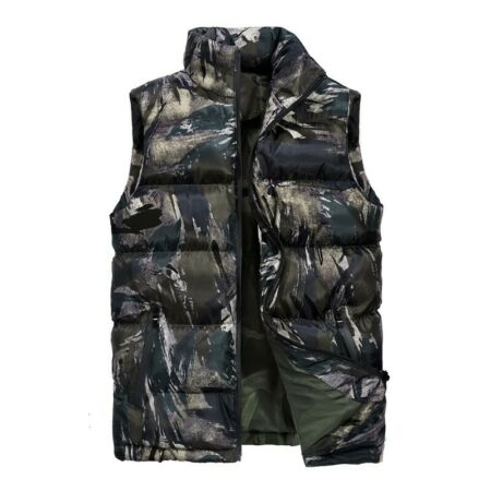 img-Winter Men Thick Warm Vest Padded Cotton Quilted Sleeveless Jacket Waistcoat New
