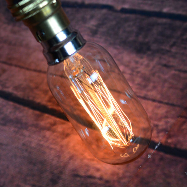 B22 Edison Retro Radio Valve Squirrel Cage T45 Dimmable Filament Light Bulb 40W