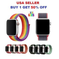 Kyпить Woven Nylon Band For Apple Watch Sport Loop iWatch Series 4/3/2/1 38/42/40/44mm на еВаy.соm
