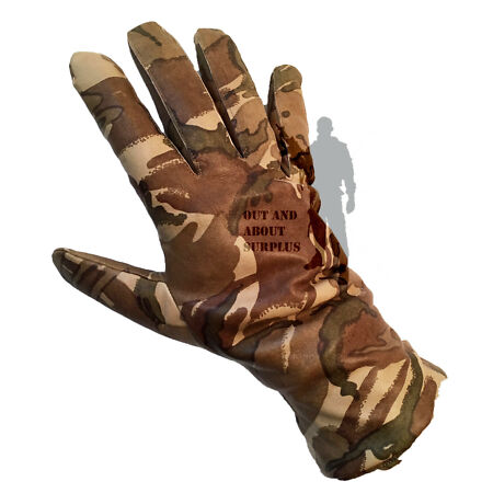 img-BRITISH ARMY - MTP Mk II Leather Combat Padded Gloves Genuine Issue