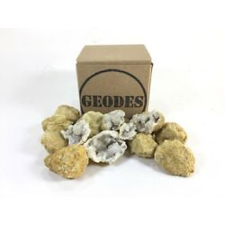 Box of 10 Small Whole Moroccan Crystal Break Your Own Geodes Geology Party Favor