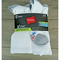 Kyпить NEW - Hanes!! Men's X-Temp - Crew Socks - 12 Pairs - Size 6-12 - White  на еВаy.соm