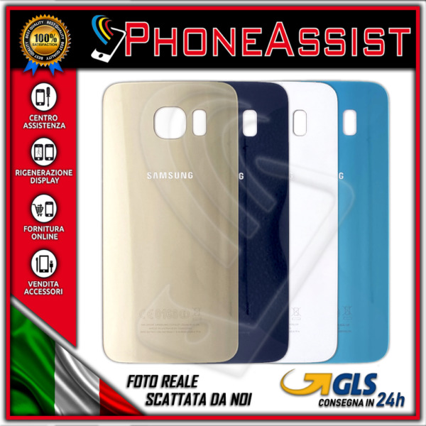VETRO POSTERIORE SCOCCA Samsung Galaxy S6 G920F BACK COVER HOUSING