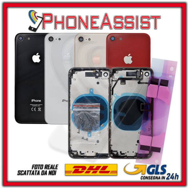 SCOCCA POSTERIORE + FLEX Apple iPhone 8 8G TELAIO VETRO BACK COVER HOUSING