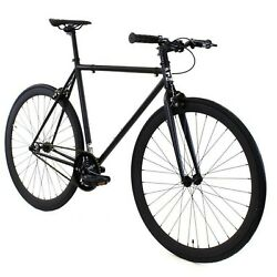 Golden Cycles Vader Black Fixed Gear Single Speed Fixie Bike Bicycle 41cm-63cm
